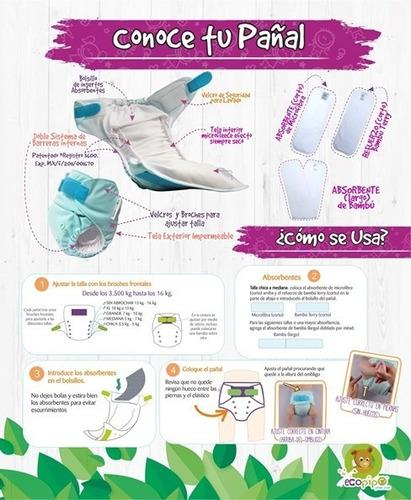 20 pack pañales de tela ecopipo (reutilizables con garantía)