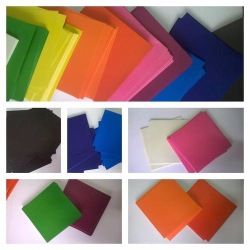 20 papeles para origami  colores lisos 15 x 15 cm