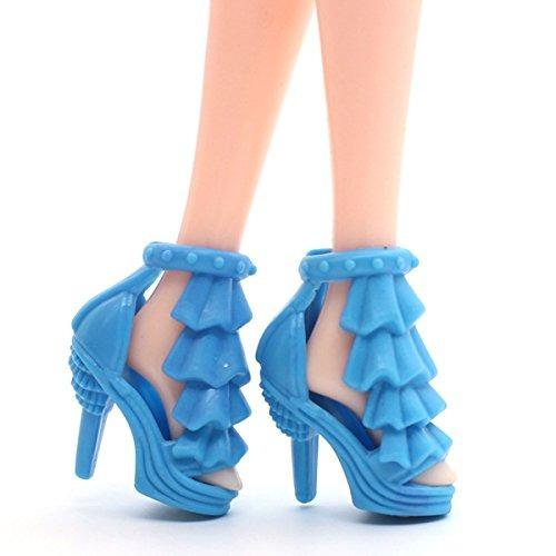 9e8993e6 20 Par Barbie Doll Shoes Partido Diferentes Zapatos De Tacón ...