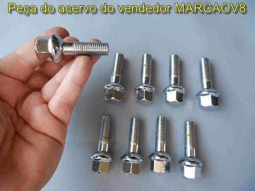 20 parafusos cromados p roda do mercedes classe a esférico