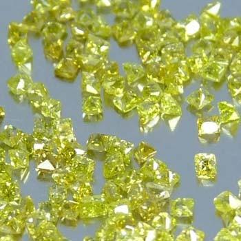 20 pequeños  hermos diamantitos canario corte baby princess