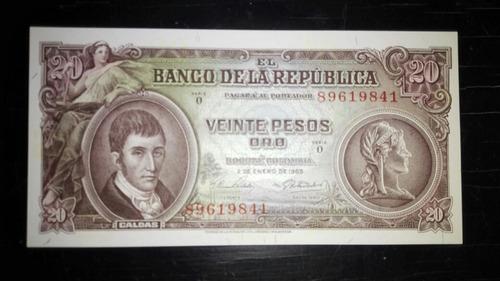 $20 pesos de enero 2 de 1965