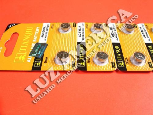 20 - pila bateria alcalina ag3 lr41 392 sr41 tianqiu