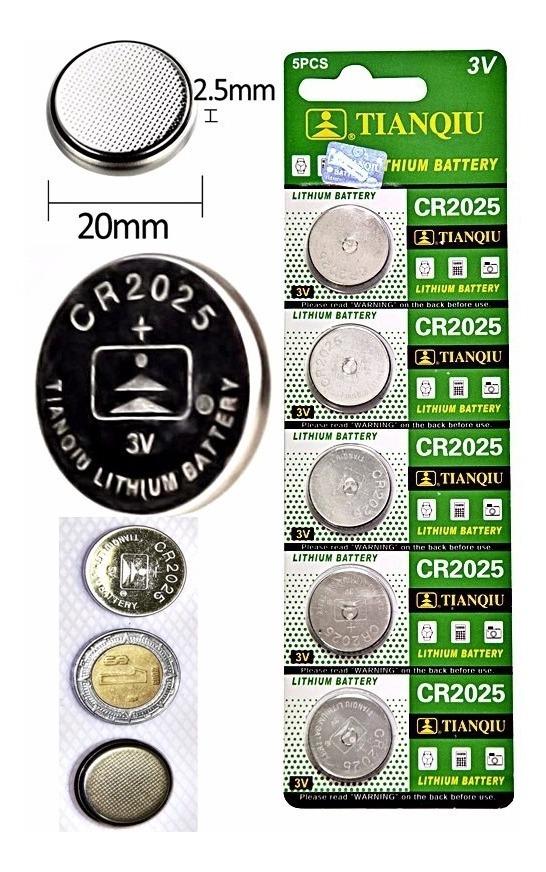 Pila Tianqiu Litio 20 controles cpu Reloj Bateria Cr2025 3v 0v8Nmnw