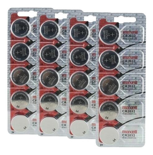 20 pilas cr2032 3v litio medidor glucosa balanza llave auto