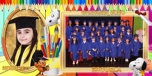 20 plantillas grupales escolares 8x16 psd editables 300ppp