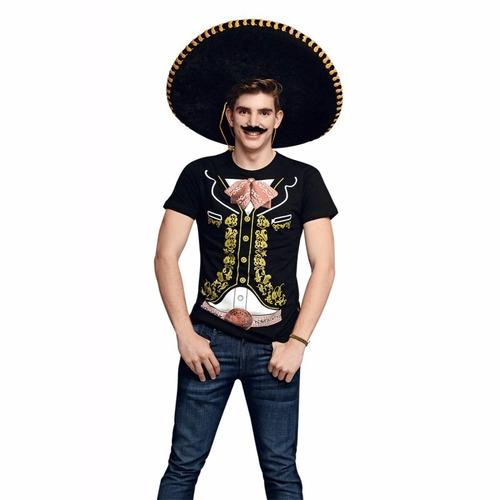 20 playeras de charro mexicano  envio gratis + 5 de regalo