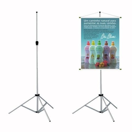 20 porta banner 2 metros suporte pedestal tripé ceproplast