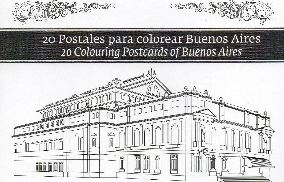20 Postales Para Colorear Buenos Aires De Sofía Le Comte - $ 160,00 ...
