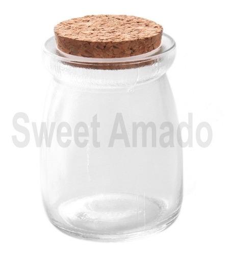 20 potes vidro com tampa rolha cortiça 100ml lembrancinha