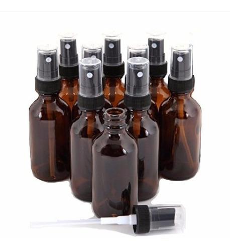 20 pza frasco vidrio 30ml ambar con atomizador