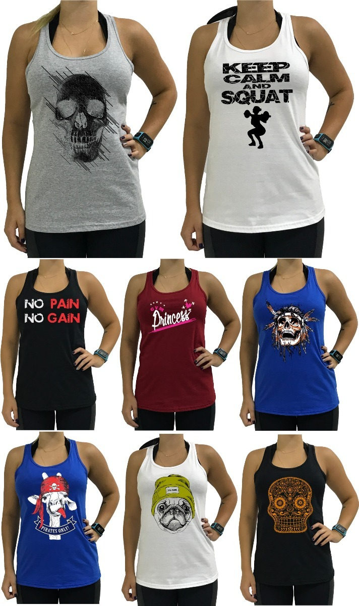 20 regata feminina nadador algodão regatas blusa camiseta. Carregando zoom. a53c16f74e8