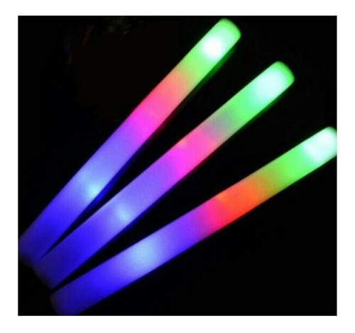 20 rompecocos barra luminosa cotillon luminico vara led fluo
