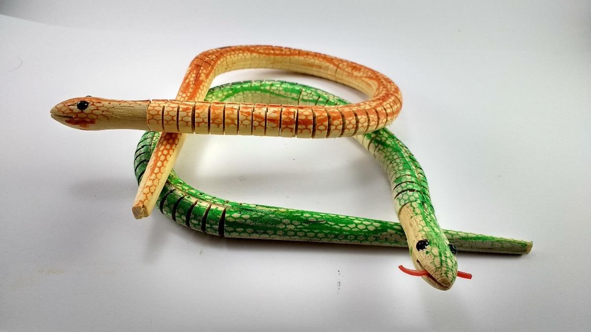 Serpientes Juguete Madera 20 20 Serpientes De zVSGUMqp