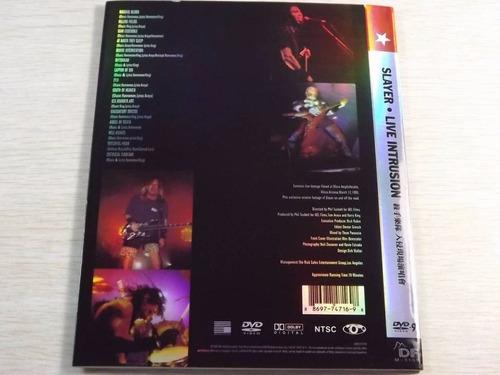 20% slayer live intrusion 95 thrash(ex+/ex+)dvd import+
