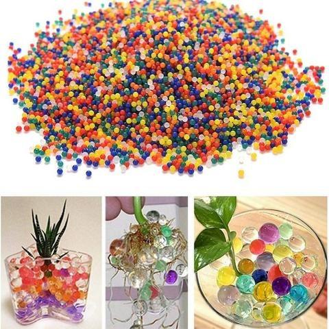 20 sobres con bolitas de hidrogel (colores surtidos)