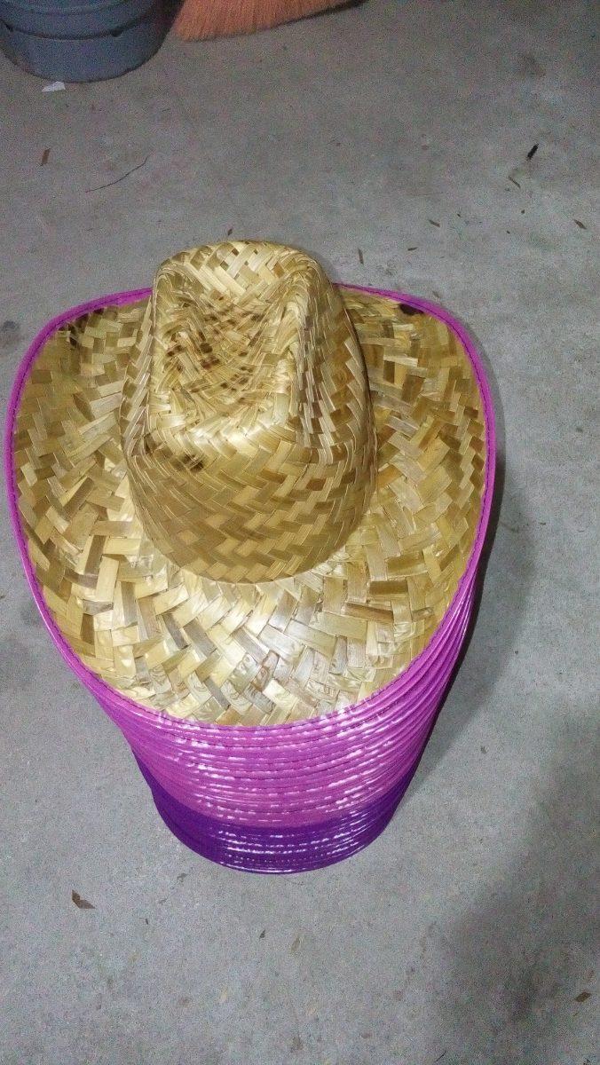 ac23ee4b6f9c7 20 Sombreros Vaqueros De Palma Niño O Adulto Orilla De Color ...
