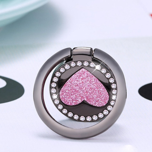 20 suporte anelar celular iring coração glitter atacado