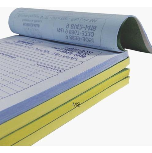 20 talao de pedido 15x20 2 vias papel comum