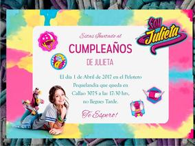 20 Tarjeta Invitación Cumpleaños Soy Luna