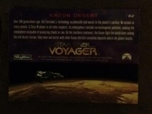 20 tarjetas de coleccion star trek voyager episodios