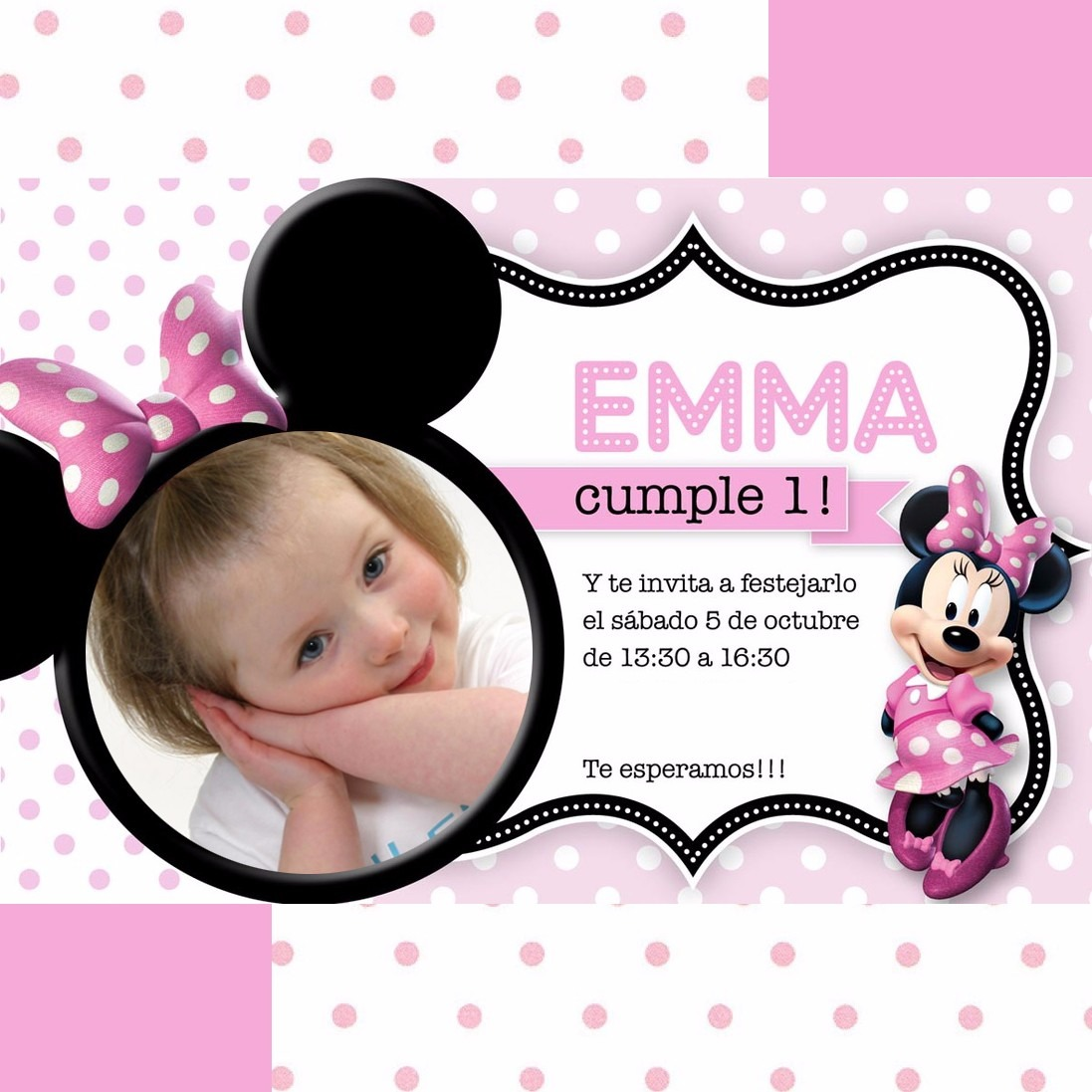 20 Tarjetas De Invitacion Minnie