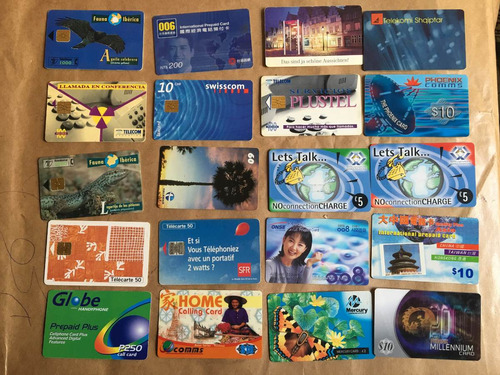 20 tarjetas telefónicas extranjeras las de la foto t027