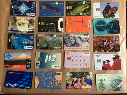 20 tarjetas telefónicas extranjeras las de la foto t028