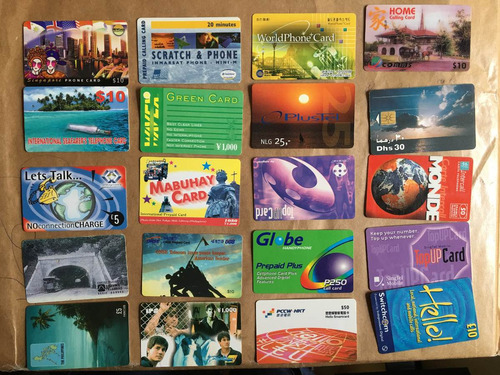 20 tarjetas telefónicas extranjeras las de la foto t033
