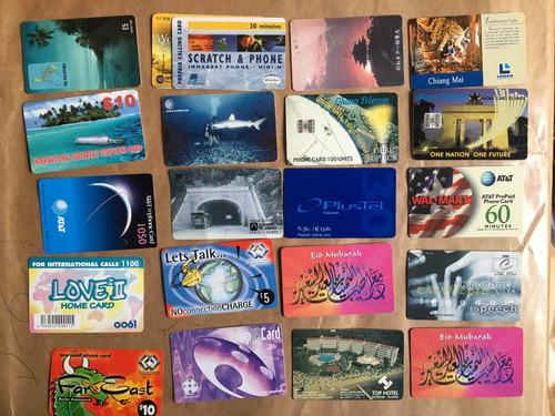 20 tarjetas telefónicas extranjeras las de la foto t038