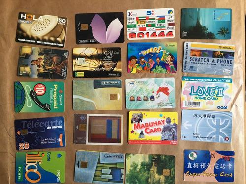20 tarjetas telefónicas extranjeras las de la foto t039