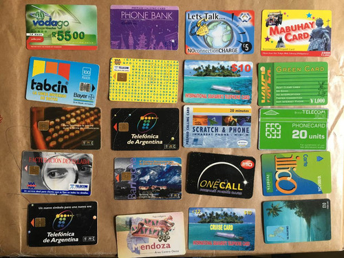 20 tarjetas telefónicas extranjeras las de la foto t041