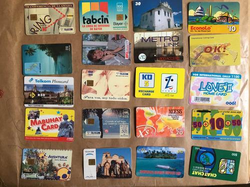 20 tarjetas telefónicas extranjeras las de la foto t043