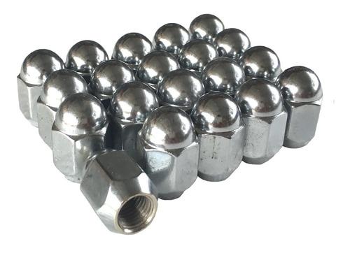 20 tuercas cromadas 12x1.25 - tsuru nissan pickup sentra