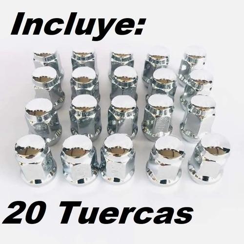 20 tuercas cromadas 12x1.5 hex 3/4 - mazda chevrolet toyota