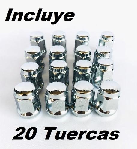 20 tuercas cromadas para nissan np300 tsuru 12x1.25