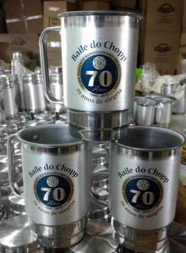 20 un. canecas de aluminio 400 ml personalizadas