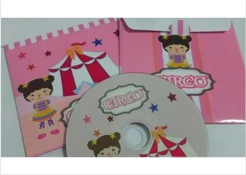 20 un. cd ou dvd personalizado + envelope matte + gravação
