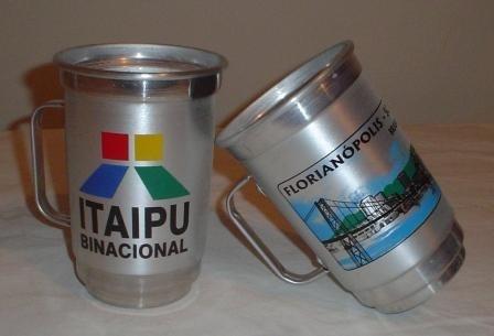 20 un.caneca térmica alumínio 500ml personalizada