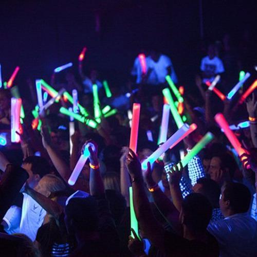 20 uni bastão de led 48 cm espuma festa casamento neon