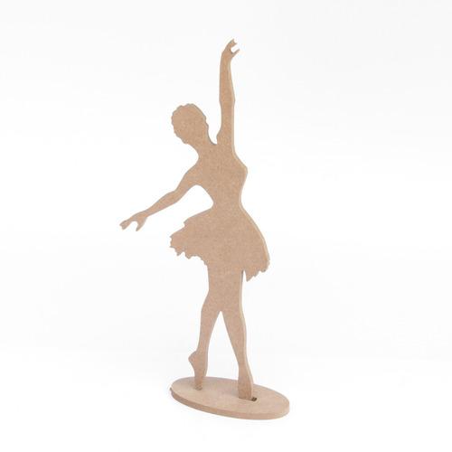 20 unid bailarina centro mesa mdf 6mm cru com 20 cm altura