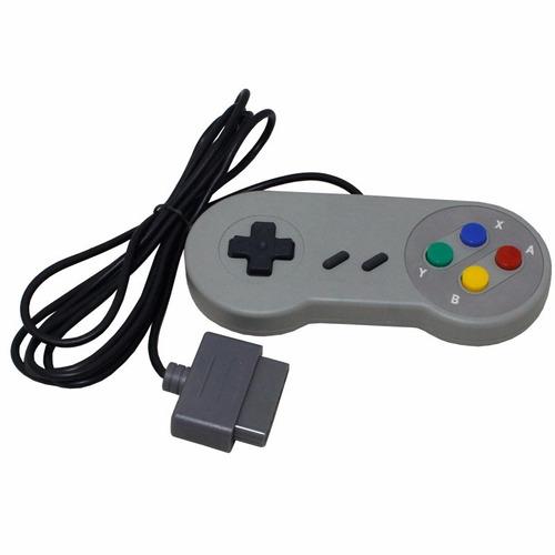 20 unid controle video game super pad snes joystick retro