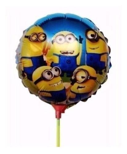20 unidades 21 cm balão metalizado minios já vem as varetas!