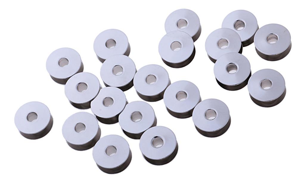 25 X Bobinas de Metal-Máquina de Coser Carrete Universal se adapta a la mayoría de marcas