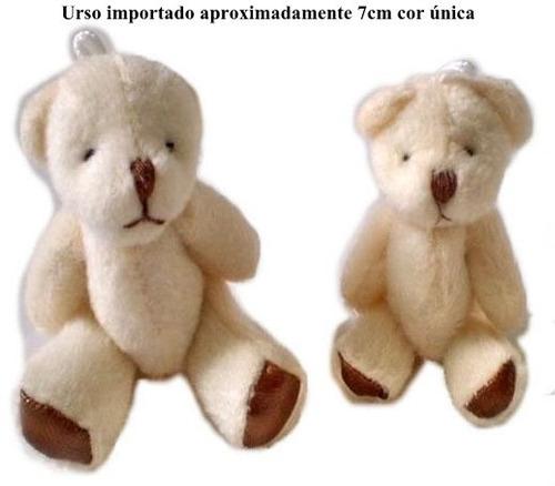 20 urso pelucia mini lembrançinha chaveiro 7cm frete gratis