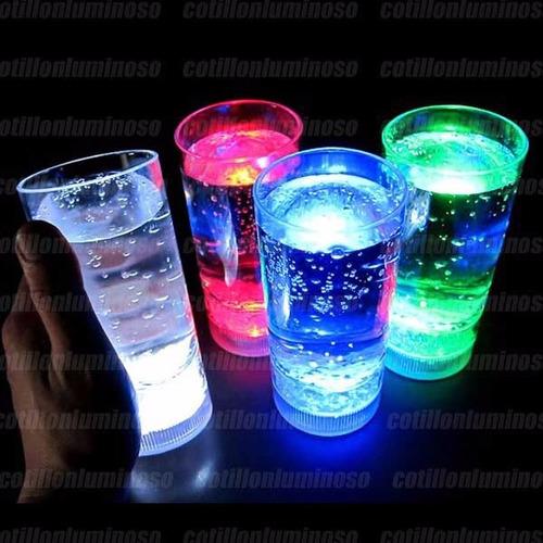 20 vasos largos luminosos luz led cotillon carioca fiesta