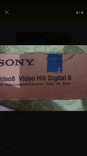20 video cassettes hi8 8mm nuevos sellados