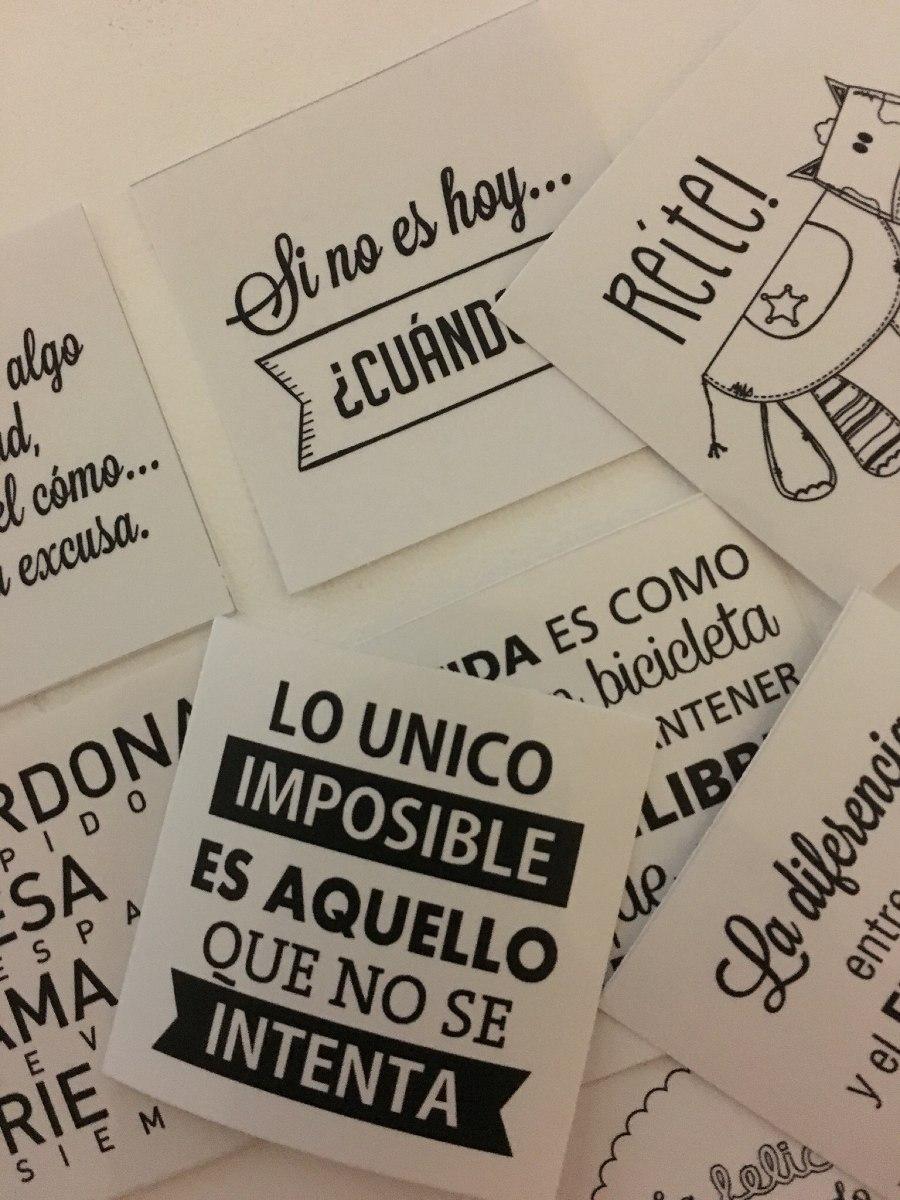 20 Vinilos Calcos Stickers Frases Motivacion 5x5 Cm