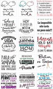 20 Vinilos Calcos Stickers Frases Personalizá A Otro Costo
