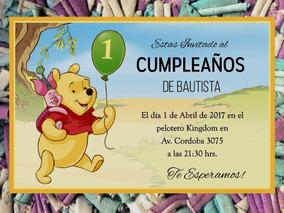 20 Winnie Pooh Invitación Infantil Cumpleaños Fiesta Disney